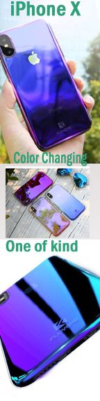 FLOVEME Changing Color iPhone X Phone case. One of the unique transparent impressive case cover. Iphone Wallet Case, Diy Phone Case, Iphone Phone Cases, Pusheen Toys, Hand Quotes, Phone Icon, Day Plan, Apple Products, Phone Holder