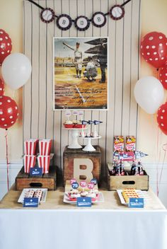 Vintage Baseball Party Dessert Table by ItsyBelle