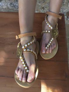 20% SALE Handmade Leather Sandals  Amaryllis