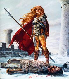 Dragonlance - Laurana y Sturm muerto