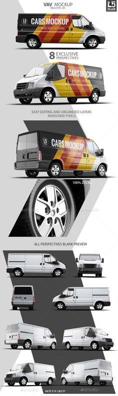 8 Car Mock-Up Set | Download: http://graphicriver.net/item/van-mockup/10270122?ref=ksioks
