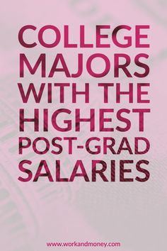 Average salary statistics used to rank college majors.