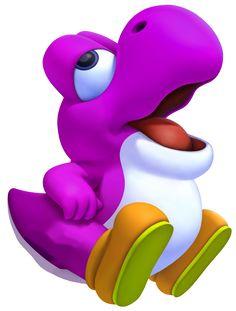 purple yoshi   Image - Purple Baby Yoshi 3D.png - Fantendo, the Nintendo Fanon Wiki ...