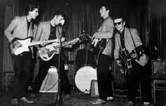 the silver beatles  with stuart sutcliff ♥