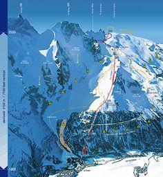 La Grave - La Meije off piste map.