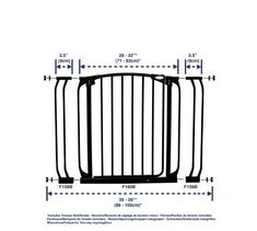 Dreambaby Swing Close Gate with Extensions - Black $45.00