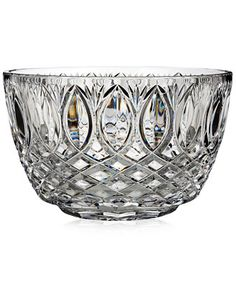 The gorgeous wedge cuts of Waterford's Grant bowl add elegant appeal to the elongated cuts featured at the top. Perfect for displaying in your entryway or living room. | Crystal | Hand wash | Imported