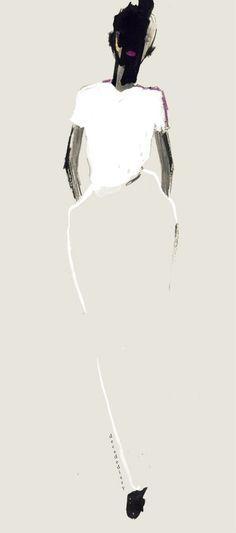 Black and white color inspiration: fashion illustration