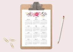 2016 Calendar Printable Calendar Office Calendar por TheWickedWall Office Calendar, Calendar Calendar, Calendar Printable, Printables, Templates, Etsy, Wall Art, Digital, Unique Jewelry