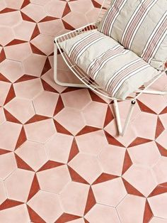 petal // blush Handmade tiles can be colour coordinated and customized re. shape, texture, pattern, etc. by ceramic design studios