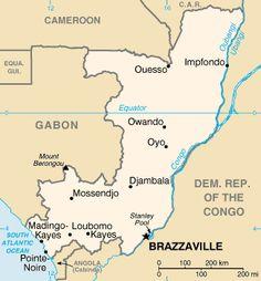 Map of the Republic of the Congo ◆Republic of the Congo - Wikipedia https://en.wikipedia.org/wiki/Republic_of_the_Congo #Republic_of_the_Congo