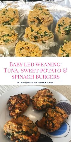 Baby Led Weaning: Tuna, Sweet Potato and Spinach Burgers A delicious and easy recipe for baby led weaning burgers using tuna, sweet potato and spinach. Perfect for babies and toddlers, healthy and nutritious and perfect for Mums on the go. Baby Puree Recipes, Baby Food Recipes, Recipes For Babies, Spinach Recipes, Spinach Burgers, Kids Meals, Easy Meals, Fingerfood Baby, Baby Weaning