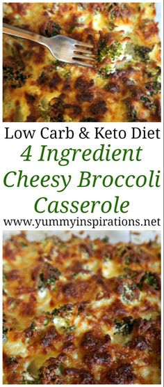 Low Carb Keto Broccoli Casserole Recipe – Easy low carb broccoli bake recipes – great idea for dinner or a Ketogenic Diet friendly side dish. Loaded with cheese and only 4 ingredients. Keto Foods, Ketogenic Recipes, Diet Recipes, Healthy Recipes, Dessert Recipes, Simple Recipes, Breakfast Recipes, Shake Recipes, Keto Meal