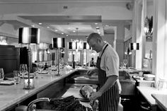 Our Head Chef, Sean Smith, getting ready for a Fish Masterclass Sean Smith, Oyster Bar, Master Class, Cliff, Oysters, Townhouse, Restaurant, Fish, Terraced House