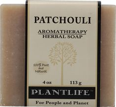 Plantlife Patchouli 100% Pure & Natural Aromatherapy Herbal Soap 4 oz 113g