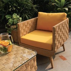 Check out the new range of outdoor furniture by IDUS. This beautiful yellow sofa will give a completely fresh summer vibe to your outdoor space and motivate you to spend more time soaking the sun! Ditch the conventional colours and designs, and go for what makes you happy with IDUS :) Check our Instagram page for more summer outdoor furniture and follow us for updates ! Garden Furniture Design, Outdoor Garden Furniture, Outdoor Decor, Yellow Sofa, Are You Happy, Range, Colours, Patio, Sun