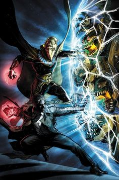 Dr. Fate and John Constantine by Juan Ferreyra