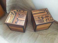 Cassapanca bambini ~ Set di 2 bauli in legno perseo max 76x50x45 cm bauli in legno