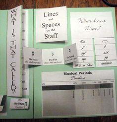 Music Theory reference lapbook