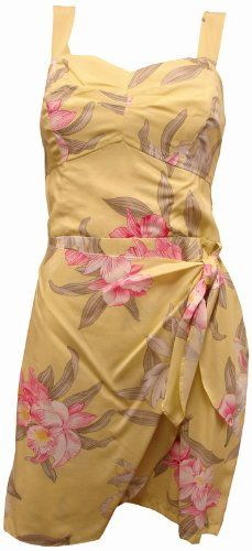 Yellow Dress - Pin It :-) Follow Us :-))  azDresses.com  is your  Dresses Product Gallery.  CLICK IMAGE TWICE for Pricing and Info :) SEE A LARGER SELECTION of yellow dresses at http://azdresses.com/category/dress-categories/dresses-by-color/yellow-dress/ -   women, womens fashion, dress, womens dresses -  Orchid Corsage Saraong Hawaiian Dress – Womens Hawaiian Dress – Aloha Dress – Hawaiian Clothing – 100% Rayon Yellow 2XL « AZdresses.com