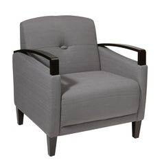 Office Star Products Main St. Woven Chair w/ Interlace Weave & Espresso Finish Wood Arms & Legs