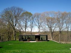Built by Philip Johnson in New Canaan, United States with date 1949. Images by Flickr user : Melody Kramer . Inspired by Mies van der Rohe's Farnsworth House, the Glass House by Philip Johnson, with its perfect proportions and...
