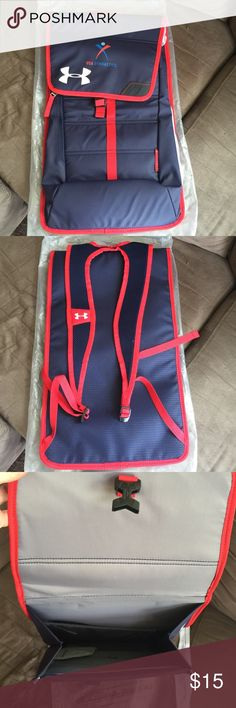 New Under Armour Backpack Sling USA gymnastics backpack by under armor. New. Slim profile high quality backpack sling Under Armour Bags Backpacks