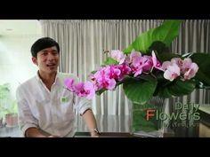 Daily Flowers 23-จัดดอกไม้ในแจกันขนาดใหญ่ - YouTube
