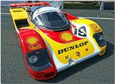 """1990 Works """"Shell"""" Porsche 962C Group C Sportscar."""