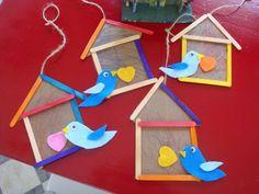 Okulöncesi Sanat ve Fen Etkinlikleri: Okulöncesi Dondurma Çubugu İle Kuş Kafesi ve Kuş Yapımı