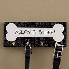Dog Stuff Personalized Leash Holder