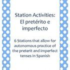 This packet contains six station activities involving the preterit and the imperfect. Stations one and two involve simple verb conjugation/fill in ...