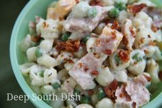 Deep South Dish: Peas and Pasta Salad with Tuna - Buttermilk Ranch Dressing recipe