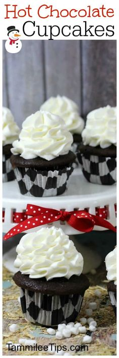 Easy homemade from scratch Hot Chocolate Cupcake Recipe! Perfect for Christmas or any day! Add marshmallows to this fun dessert recipe! Easy homemade from scratch Hot Chocolate Cupcake Recipe! Perfect for Christmas or any day! Chocolate Cupcakes From Scratch, Hot Chocolate Cupcakes, Cupcake Recipes From Scratch, Chocolate Sweets, Chocolate Recipes, Homemade Cupcake Recipes, Nutella Recipes, Frosting Recipes, Köstliche Desserts