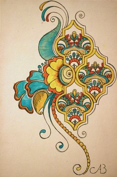 Paisley Motif #tattoo #design