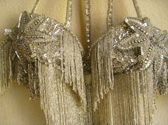 sequin star and fringe halter bra from 30s 40s 50s dance costume. retro, vintage