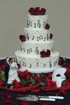 Phantom of the Opera Wedding on Cake Central