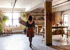 Gorgeous studio in Greenpoint: A Studio Visit with Florist Amy Merrick Gardenista