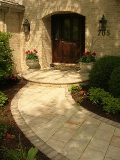 Front walkway - I like the big bushes with smaller ones on the right side