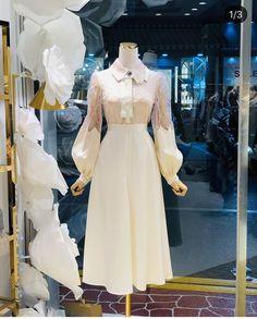 Kpop Fashion Outfits, Ulzzang Fashion, Hijab Fashion, Korean Outfits, Stylish Dresses, Casual Dresses, Afghan Wedding Dress, Skirt Fashion, Fashion Dresses