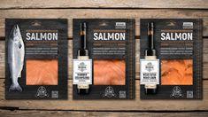 Packaging design for Royal smoked salmon Food Packaging Design, Packaging Design Inspiration, Branding Design, Smoked Fish, Smoked Salmon, Raw Food Recipes, Fish Recipes, Organic Salmon, Organic Packaging