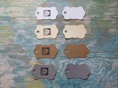 Étiquettes personnalisées, Étiquettes à bijoux, étiquettes à vêtements «Mini mini! Modèle E» (50) 4 couleurs disponibles de la boutique Lamainalacarte sur Etsy