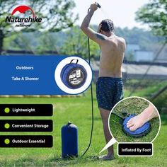 Naturehike Outdoor Camp Shower Water Bag Foldable PVC Portable Shower Bag For Hiking Camping BBQ Travel Water Storage Camping Bbq, Camping Hacks, Camping Gear, Camping Outfits, Camping Stuff, Camping Storage, Camping Cabins, Hiking Gear, Camping Equipment