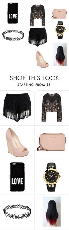 Club Night by meleal on Polyvore featuring beauty, Givenchy, Versace, Michael Kors, Alessandra Rich, Chicwish and Jessica Simpson