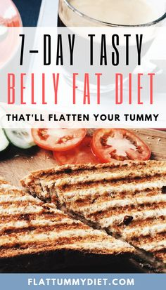 Tasty Belly Fat Diet Plan to Lose Stomach Fat for Women. No starvation. No extreme dieting. Only tasty meals every day for 7 days. 7 Day Diet Plan, Paleo Diet Plan, Healthy Diet Tips, Healthy Food Choices, Diet Plans, Healthy Eating, Flat Tummy Diet, Lose Tummy Fat, Flat Stomach