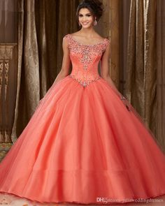 New Elegant Gorgeous Ball Gown Coral Quinceanera Dresses 2017 Beaded Crystals Appliques Sweet 16 Dresses For 15 Years Debutante Gown QC263 Quinceanera Dresses Quinceanera Dresses 2017 Quinceanera Gowns Online with $188.58/Piece on Juliaweddingdresses's Store | DHgate.com