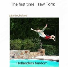 When i finally got a good look at Tom this was me, now im just swimming around with the Hollanders like sup fam