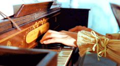 music. piano. hands. vintage.