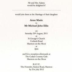 wedding invitation language