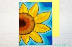 These chalk pastel sunflowers are so colorful and beautiful! Kids will learn easy chalk pastel techniques to create this fun sunflower art project! Sunflower Crafts, Sunflower Art, Chalk Pastel Art, Chalk Pastels, Fall Art Projects, Projects For Kids, Easy Chalk Drawings, Art Drawings, Art Sketches